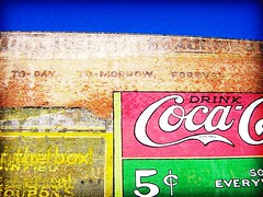 Today Tomorrow Forever - Lomoized (Kymberlie R. McGuire) Tags: camera wallpaper 15fav favorite lomoized galveston building topv111 wall 1025fav 510fav catchycolors effects fantastic mural coke moo bathed cocacola wallpapers fakelomo sonycybershot sonycybershotdscp71 moocard