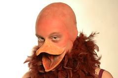 CastIt#11 - end result (Vina the Great) Tags: castit cast foam beak makeup prosthetic feathers bald
