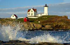 Nubble Light (Falling Waters) Tags: ocean lighthouse landscape maine newengland nubblelight