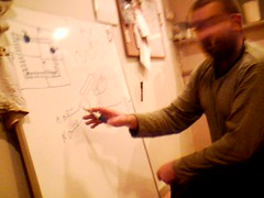 Sam and his whiteboard (tahpot) Tags: moblogged samsrealface uncensored