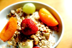 Good Morning! (MrTopf) Tags: food macro processed bestviewedlarge muesli msli breakfast morning bowl fruit fruits cereals