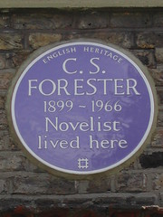 Photo of C. S. Forester blue plaque