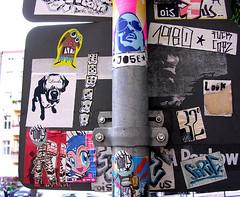 stickers stickers stickers (Loso) Tags: berlin sticker streetart stickerart urban art prenzlauerberg