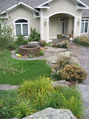 Waterwise Garden with small Garden Pool