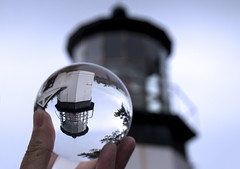 Cape Meares Lighthouse (Canuck Chick) Tags: lighthouse oregon crystalball reflection coast ocean pacific dogwood52 dogwoodweek50