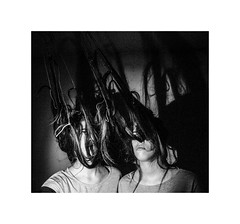 Senne lutke (xzwillingex) Tags: bw blackandwhite hair strings selfportrait portrait people rope twins identicaltwins indoor