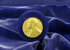The Nobel Prize in Physics awarded to Ernest O. Lawrence in 1939 for the invention and development of the cyclotron and for results obtained with it, especially with regard to artificial radioactive elements