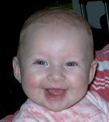 What a Beautiful  Smile ! (loveu2hey) Tags: blue grandma baby girl smile eyes tc28closeup