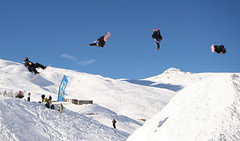 (J!mbo) Tags: blue winter sky white mountain snow ski france alps cold composite lenstagged jump wide wideangle tignes thealps 1020mm canoneos350d canoneosdigitalrebelxt canoneoskissdigitaln photoshopcs2 compositing sigma1020mm valdisére sigma1020 sigma1020mmf456exdchsm sigma1020mmf456 sigma1020f456 valtignes