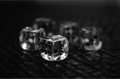 Dice (Bucky O'Hare) Tags: christmas blackandwhite bw white dice black macro art closeup dof close artistic bokehsonicejuly bokehsonicejuly16