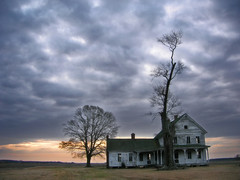 crazy tree revisited (tearapen73) Tags: sky house tree abandoned clouds photoshop sunrise wow wonder nc interestingness decay country northcarolina oldhouse stormclouds lookme crazytree