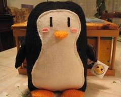 Penguin (elewa) Tags: cute animal mos toy penguin knitting handmade knit craft felt softie kawaii knitted pingino