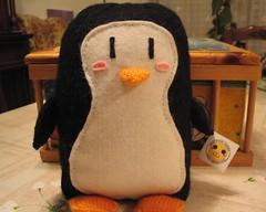 Penguin (elewa) Tags: cute animal mos toy penguin knitting handmade knit craft felt softie kawaii knitted pingüino