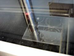 laser cutter cutting