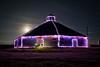 Mooooooon! (howardignatius) Tags: sanluisobispo barn moon lights christmas cow night lowlight sky clouds pereiraoctagonbarn california centralcalifornia central coast