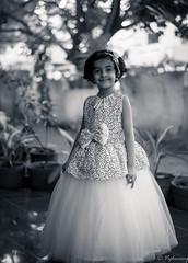 20160908-DSC_2940 (Vighnaraj Bhat) Tags: nikon d750 50mmf18 niftyfifty bokeh blackwhite bokehlicious child portrait monochrome beyondbokeh theunforgettablepictures gown kid outdoor
