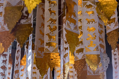 2016/07/23 16h46 signes astrologiques (Wat Phan Tao) (Valéry Hugotte) Tags: chiangmai thailand thaïlande watphantao astrologie astrologique drapeau décoration fanion signe temple zodiaque changwatchiangmai