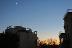 Couleurs de Dijon (nov.-dec. 2016) (godran25) Tags: dijon france bourgogne burgundy couleurs colors bluehour blue moon lune venus immeubles buildings