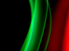 red and green light painting for Christmas