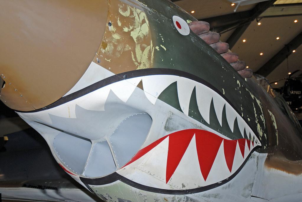 Shark mouth nose art car