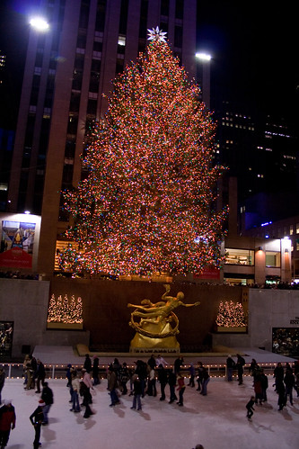 Rockefeller Skating Rink and Christmas Tree