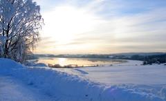 Solar effect (Original version) (Krogen) Tags: winter nature norway wow landscape norge vinter natur norwegen olympus c7070 noruega nes scandinavia akershus romerike krogen landskap noorwegen noreg skandinavia udnes