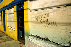 Never Give Up (flickr 500) (notnA) Tags: katrina aftermath louisiana flood neworleans hurricane hurricanekatrina nola flickrd watermark nevergiveup postkatrina flickr500 katrinaremembered