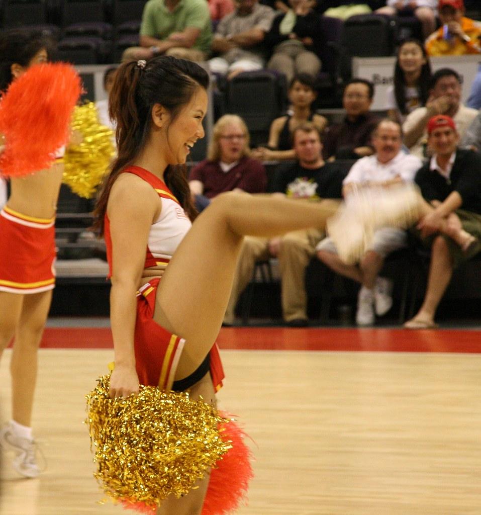 Cheerleader dance team upskirt