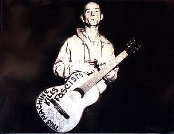 "... Woody Guthrie who really loved their country and refused to have it dragged down into the mud by people like Donald Trump,"" he asserts."