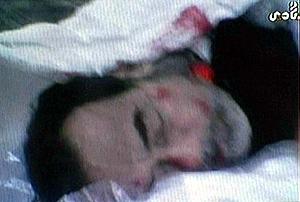 cadáver de Sadam