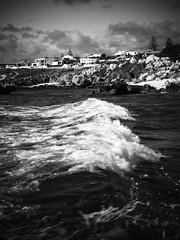 Crashing Wave (autumn_leaf) Tags: sea blackandwhite bw seascape beach water landscape tide wave perth westerna