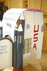 """space one"" cardboard Christmas (wise craft, handmade by Blair Stocker) Tags: winter ian colorado handmade cardboard spaceship"