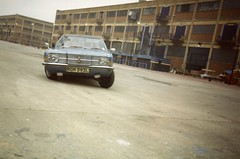 Fun with a Cortina Canary Wharf 1986 (Danny McL) Tags: cortina docklands canarywharf millwall 959 fordcortina