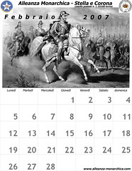 Calendario febbraio  2007