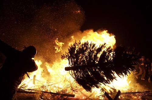 Burning Christmas Tree.Danger Ranger S 20th Annual Post Yule Pyre Christmas Tree Burn