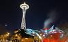 The Space Needle and EMP (A Sutanto) Tags: seattle city usa building architecture modern night lights washington landmark wa spaceneedle emp