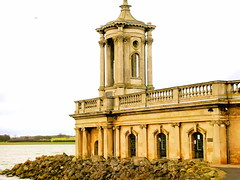 Normanton Church, Rutland Water (linniem) Tags: church water museum reservoir rutland pillars normanton