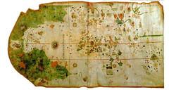 Imagen del primer mapamundi obra del navegante Juan de la Cosa