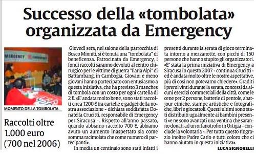 La Sicilia edizione del 6 gennaio 2007