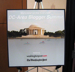 Washington Post DC Blogger Summit Sign