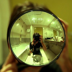 bathroom self portrait (Markus Moning) Tags: portrait distortion selfportrait reflection self square bathroom shower hotel mirror interior toilet toilette latvia guinness wc crop monika format canoneos350d spiegelung selbstportrait riga reflektion badezimmer mirroring moning lettland dusche selbstportrt rga latvija verzerrung armatur markusmoning newphotographer centrums