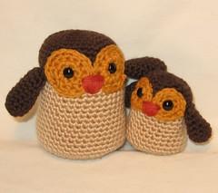 Baby & Mommy Owl/ Mama e hijito Buho :)