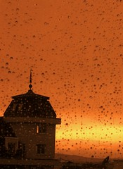 Rain in the evening (horstgeorg) Tags: light sunset colors rain licht abigfave