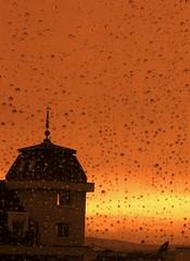 Rain in the evening (horstgeorg) Tags: light sunset colors rain licht abigfave