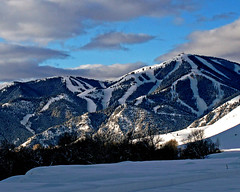 Idaho Ski Hill (Mountain Mike) Tags: idaho skihill sunvalley mtbaldy snowshoein trailcreekroad