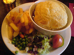 Steak & Ale pie at Clever Dicks on Edinburgh's Royal Mile