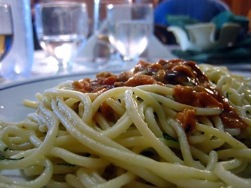 Spaghetti ai Ricci - sea urchin roe
