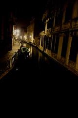 rem sleep (maybemaq) Tags: venice light italy black water wall night dark boat canal darkness sleep tranquility silence gondola venezia nightwalk remsleep
