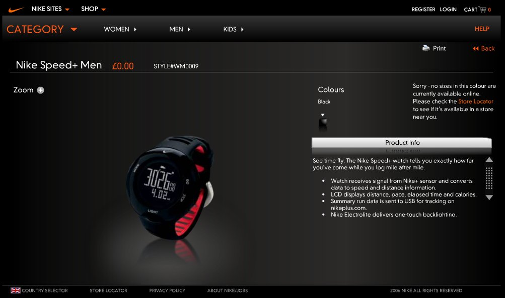 Nike Speed+ Watch