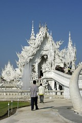 the temple wat rong kuhn in chiang rai, thailand